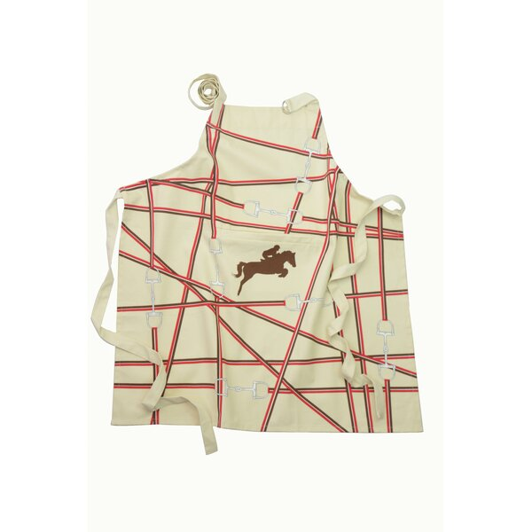 Le Cheval Derby Inside Pocket 100% Cotton Printed Apron by Rue Montmartre